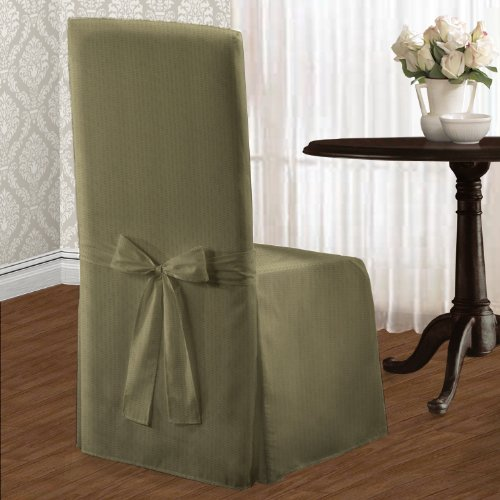 (United Curtain Metro Dining Room Chair Cover, 19x18x42 inch , Sage)
