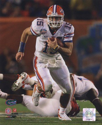 Tim Tebow University of Florida Gators 2009 Action Football Photo Print (8 x 10) (Best Football Photos Of All Time)