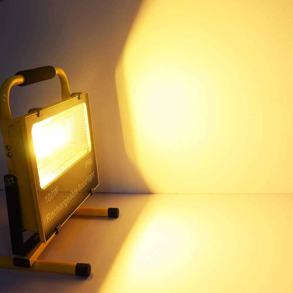 HENGMEI 30W LED Fluter Akku Baustrahler Arbeitsleuchte Strahler Flutlicht Scheinwerfer handlampe f/ür Camping 30W KaltWei/ß