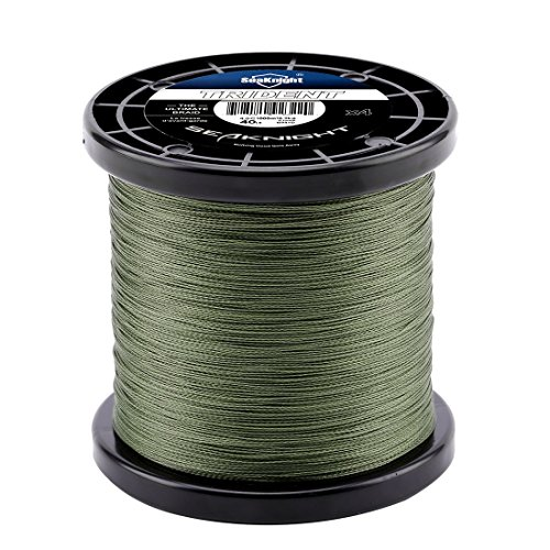 Enature Braided Fishing Line - Green Dyneema Braided Lines - Abrasion Resistant Zero Stretch Fishing Lines for Saltwater & Freshwater, Surf Fishing, Bass Fishing, Fly Fishing