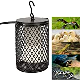 100W Infrared Ceramic Emitter Heating Lamp, Anti-Scald Heater Pets Reptile Incubator Cage Heat Light Bulb with Hook US Plug (Black)