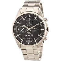 Seiko Men's SNDC81 Silver Stainless-Steel Quartz Fashion Watch