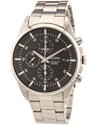 Seiko Mens SNDC81 Stainless Steel Analog with Black Dial Watch