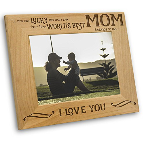 Worlds Best Mom Picture Frame - Mothers Day Gifts - Mom Gifts - Mom Frame (5x7 ()