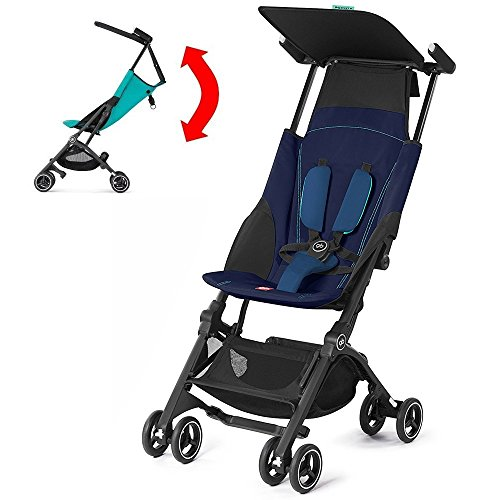 GB Pockit PLUS Stroller 2017 / multi-adjustable backrest / Light Traveler / from 6 Mo.-4Y. Sea Port, navy blau by gb