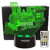 YODAFOOR Steam Train Night Lights for Kids Baby