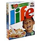 crunchy corn bran - Life Cereal, 15-Ounce Box (Pack of 6)