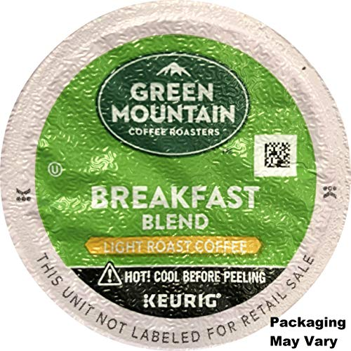 Green Mountain Coffee Breakfast Blend, K-Cup for Keurig Brewers, 100 Count (Packaging May Vary) -