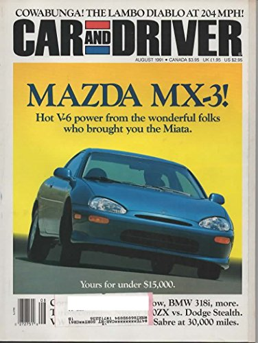 Car And Driver Magazine  August 1991  Vol 37  No 2