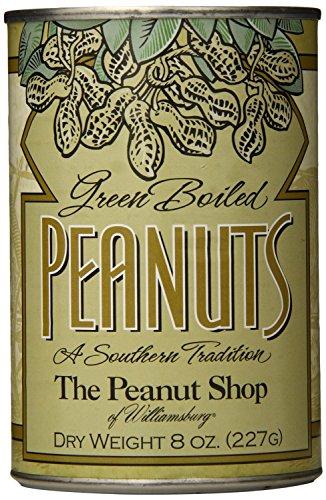 The Peanut Shop of Williamsburg Green Boiled Peanuts, 8 oz. - 4 Pack
