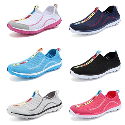 CIOR Fantiny Womens Quick Drying Aqua Water Shoes Mesh Slip-on Athletic Sport Casual Sneakers For Men Y.black MyjA2