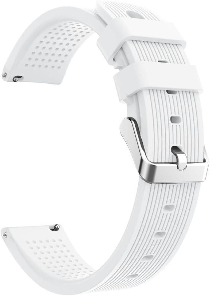 Conquro Silicona Inteligente Versión Juvenil Correa de Silicona de Banda Banda Suave reemplazo para Huami Amazfit Bip Watch (Blanco)