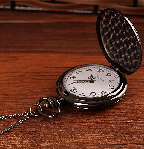 Husband Gifts from Wife Anniversary Gifts for Husband Engraved Pocket Watch with Chain (to My Husband) by LEVONTA (Image #3)