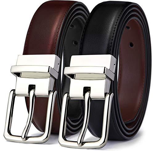 (Men's Belt, Bulliant Leather Reversible Belt 1.25