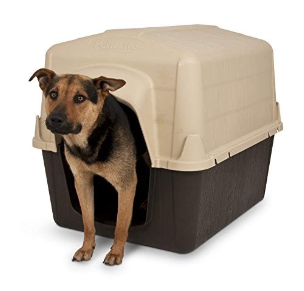 Aspen Pet Petbarn Dog House Snow and Rain Diverting Roof Raised Floor No-Tool Assembly 4 Sizes Available by Petmate