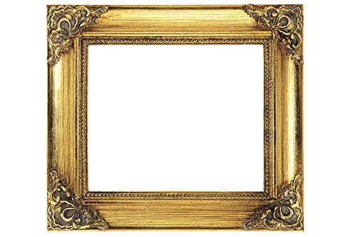 Home Comforts Laminated Poster Antique Gilded Gold Empty Wood Frame Poster Print 24 x 36 ()