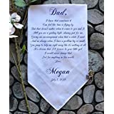 Father of the bride handkerchief father of the bride gift father of the groom gift wedding handkerchief printed handkerchief gifts-ChoCAC[A5]