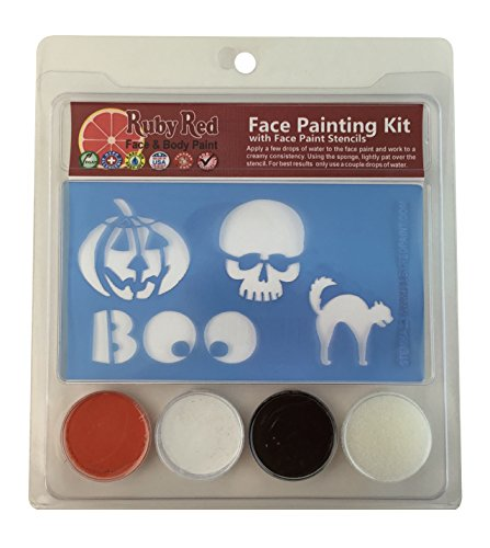 Ruby Red Paint, Inc. Face Paint, 2ML X 3 Colors - Hallowe...