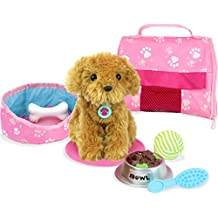 "Sophia's 18"" Doll Pet, Golden Puppy & Accessories of 10Piece"
