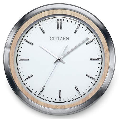 Citizen CC2009 Gallery Wall Clock, Silver-Tone and Light Beige (Citizen Wall Clock)