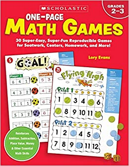 One-Page Math Games: 30 Super-Easy, Super-Fun, Reproducible ...