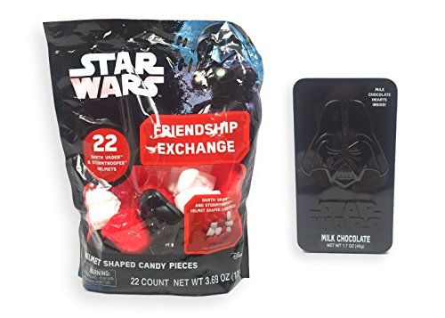 Star Wars Classroom Exchange Helmets with Candy and Darth Vader Chocolate Gift Tin