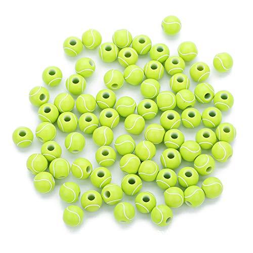 Plastic Sports Beads - R STAR 100 Pcs Tennis Beads 12mm Sports Pony Beads