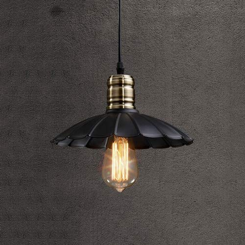 JJL Iron Hill 1-Light Indoor Convertible Chandelier/Semi-Flush Ceiling Fixture, Oil Rubbed Bronze Finish with -