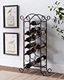 Kings Brand Furniture Brushed Copper Free Standing Storage Organizer Display Wine Rack
