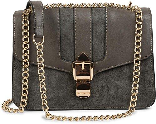 color Grey ladies and bag chain bag 02012200 bag with magnetic box handbag styleBREAKER messenger closure Black Dark HfqxOfa