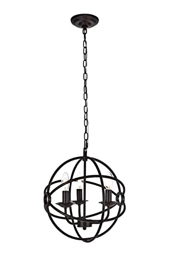 Elegant Lighting Octavia Collection 3 Light Pendant Lamp