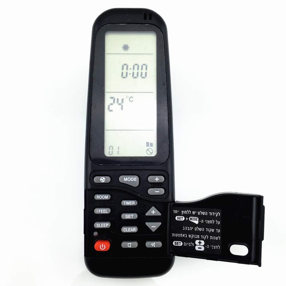 Cikuso Acondicionador de Aire Acondicionado Control Remoto Adecuado Para Electra//Airwell//Emailair//Elco Rc-41-1 Rc-5I-1 Rc-7 19In1 Rc-4I-1