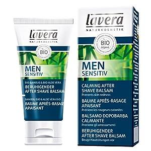 lavera Men Sensitiv Baume Après-Rasage Apaisant – vegan – Cosmétiques naturels – Ingrédients végétaux bio – 100% naturel – Crème 50 ml