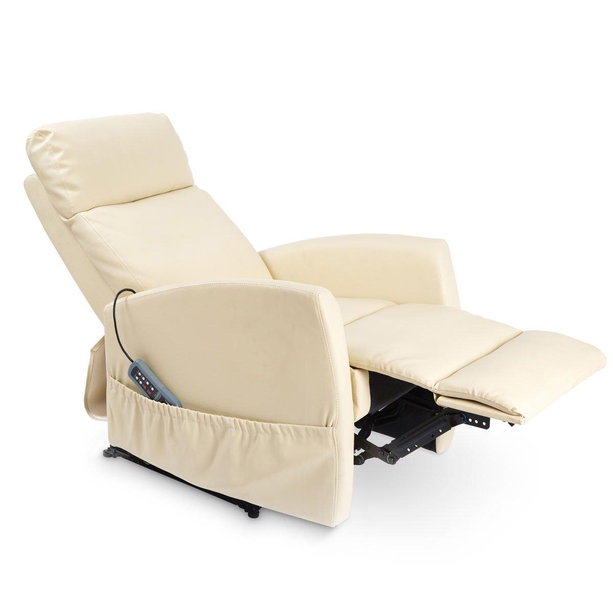 Sillón Relax de Masaje Compact. Función Calor. 5 programas. 3 intensidades. 8 Motores. Mando de Control. Polipiel Bolsillo portaobjetos