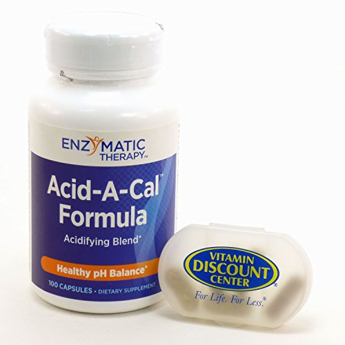 Bundle - 2 Items: 1 Bottle of Acid-A-Cal by Enzymatic Therapy - 100 UltraCaps and 1 VDC Pill Box