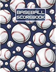 Baseball Scorebook: Log Book For Baseball and Softball Games, Inside 100 Scoring Sheets, Perfect Gift for Coaches and Fans