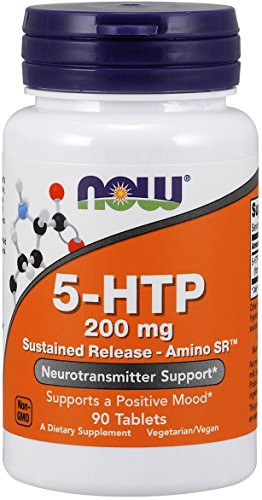 Now Foods 5-HTP Sustained Release - Amino SR 200 mg 90 Tablets