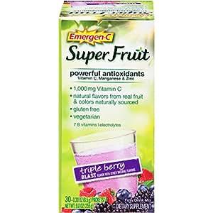 Emergen-C Super Fruit Dietary Supplement (Triple Berry Blast Flavor, 30-Count 0.30 oz. Packets)