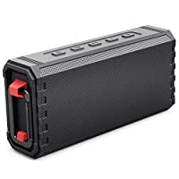 Bluetooth Speaker Portable Waterproof Outdoor IPX7 20W Hcman Wireless Speakers Enhanced Bass Sound, 24-Hour Playtime, Built in Mic, TF Card, Auto Off, Durable Design for Party, Travel (Black)