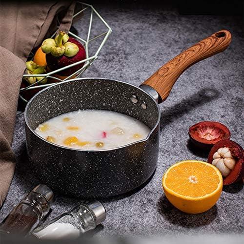 Pot Lait Chaud Domestique |pot Soupe | Durable |un Pot Universel |protection De La Santé |solide Poignée En Bois |facile À Nettoyer |Convient For Tous Hobs (Size : 16cm)