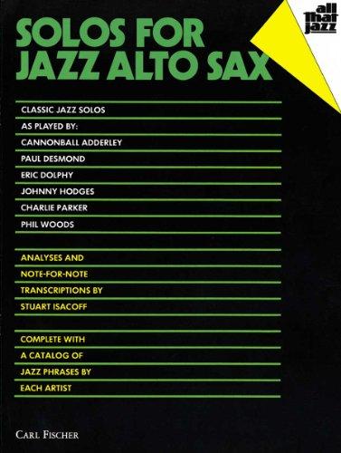 ATJ303 - Solos for Jazz Alto Sax (All That Jazz Series)