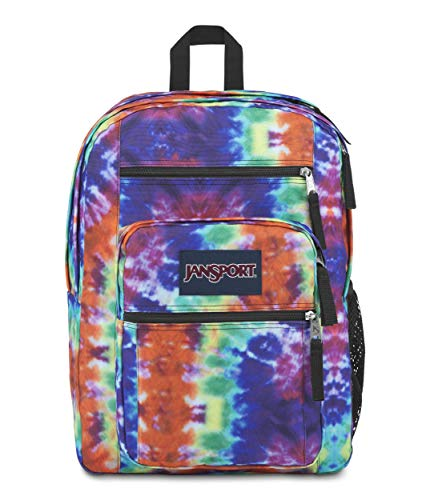 JanSport Big Student Backpack Red Hippie Days