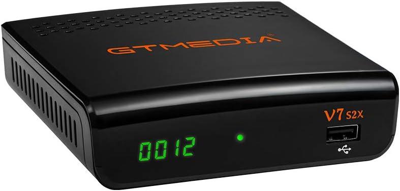 GT Media V7 S2X Receptor Satélite Decodificador Digital Full HD con Antena WiFi USB, DVB-S/S2/S2X AVS +VCM/ACM/Multi-Stream / T2MI,Soporte CC CAM ...