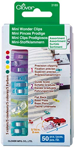 - Clover Mini Wonder Clips (50 pcs. Assorted Colors)