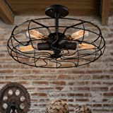 LightInTheBox The American Country Industrial Designer Chandelier Balcony Lamp European Retro Fan Ceiling Lamps E26/E27 Flush Mount