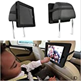 """iPad Case Headrest Car Mount – Fits: iPad PRO 12.9"""" – Mounts in Cars, Hand Strap or Hang from Hook – Safe For Kids Entertainment – Made in USA"""
