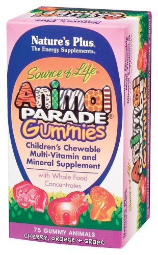 Nature's Plus - Animal Parade Gummy Bears Assorted Fruit, 75 gummies