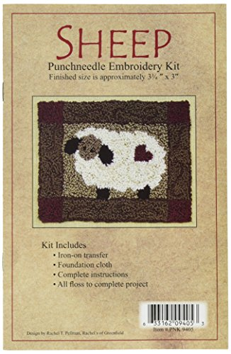 (Rachel's Of Greenfield Sheep Punch Needle Kit, 3-3/4 by 4-Inch)