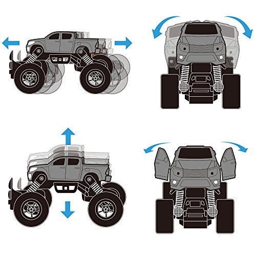 iPlay, iLearn Monster Truck Toys Set, 1:30 Large Pull Back Play Vehicles, Friction Powered, Big Wheels Cars Model, Learning Gift for Age 2, 3, 4, 5, 6, 7 Year Olds, Toddlers, Boys, Girls, Little Kids by iPlay, iLearn (Image #7)