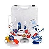 KiddyPlay Deluxe 19 Piece Medical Carrycase - Childrens Doctors & Nurses Set